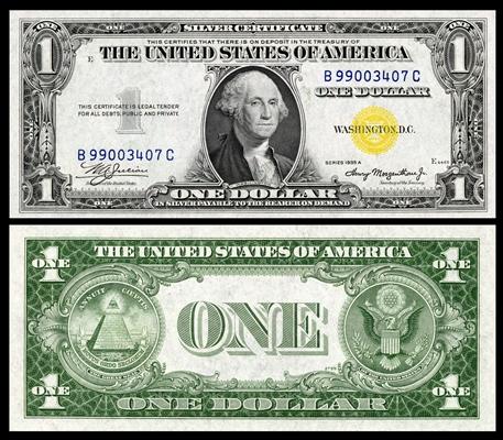 1935 Silvernnn Certificate Dollar Measure Measure Measure