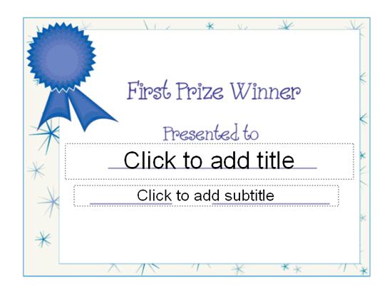 raffle prize certificate template