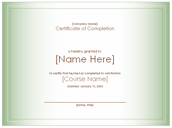 honorable mention certificate template - course completion certificate format