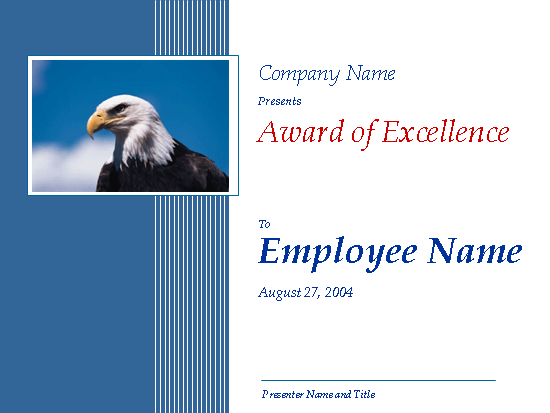 Excellence Award (with Eagle)