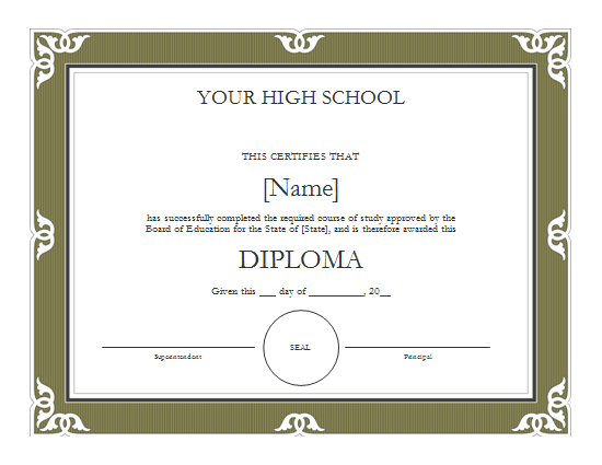 high school diploma certificate fancy design templates pin high school diploma certificate template on pinterest