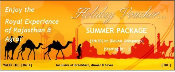Holiday Gift Voucher-summer Special