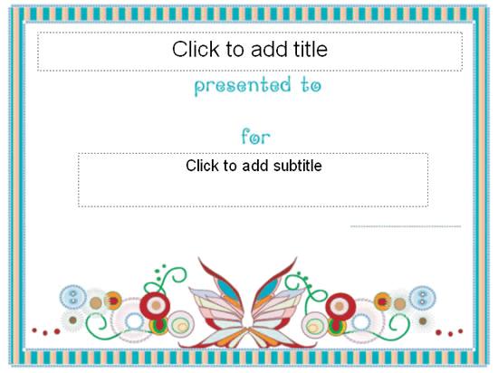Awarding Certificate (butterfly Stroke Designing)