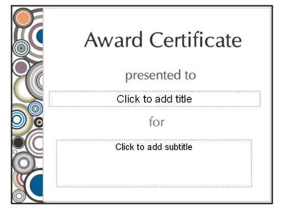 Awarding Certificate (set Designing)
