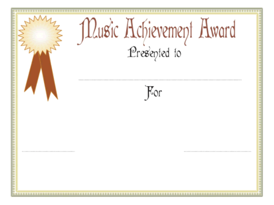 Euphony Accomplishment Awarding Certificate