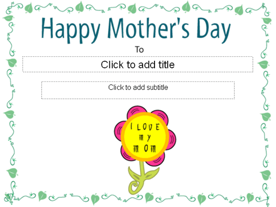 Happy Mother's Day Certificate