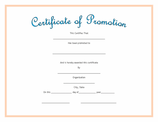 Baseball certificate templates for word just b cause for Promotion certificate template