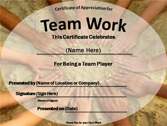 team certificate template - certificates team work certificate 2 close back to