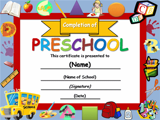 free printable completion certificates