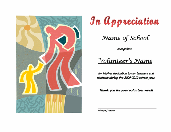 volunteer recognition certificate template - the page you requested is unavailable