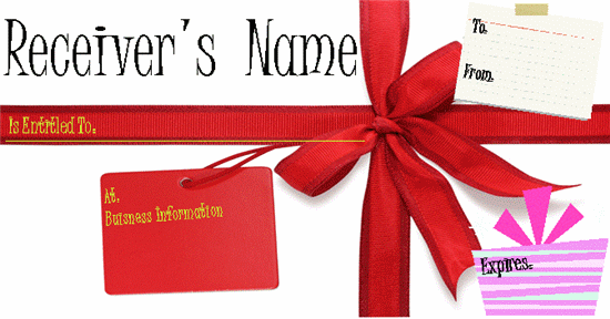 Gift Card Template Microsoft Word