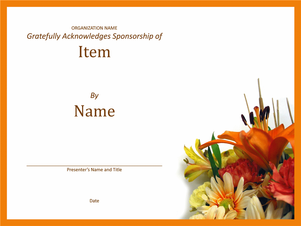 Certificate Of Grasp To Patron
