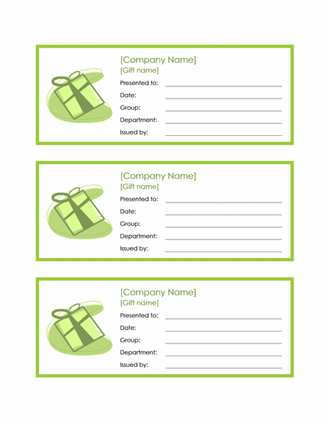 Employee Gift Certificate Template Word 2010