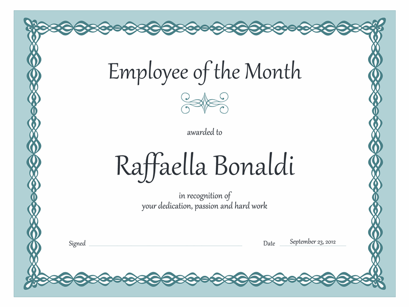 Certificate, Worker Of The Calendar Calendar Calendar Calendar Month...