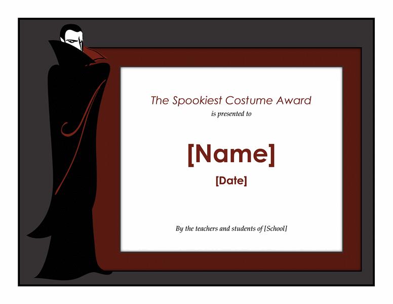 Halloween Attire Awarding