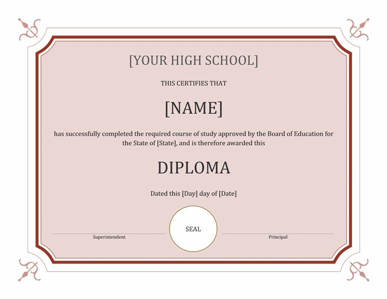 Eminent Schoolhousehousehouse Sheepskin Certificate (conventional)