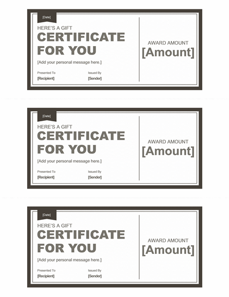 Endowment Certificates (bleak &ereereereere; Snowy, 3 Per Page)