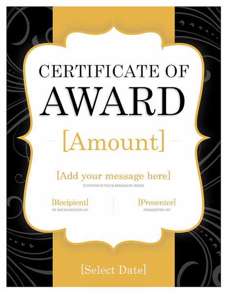 Endowment Certificate Awarding (goldenen Thread)
