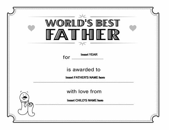 father's day gift certificate template .