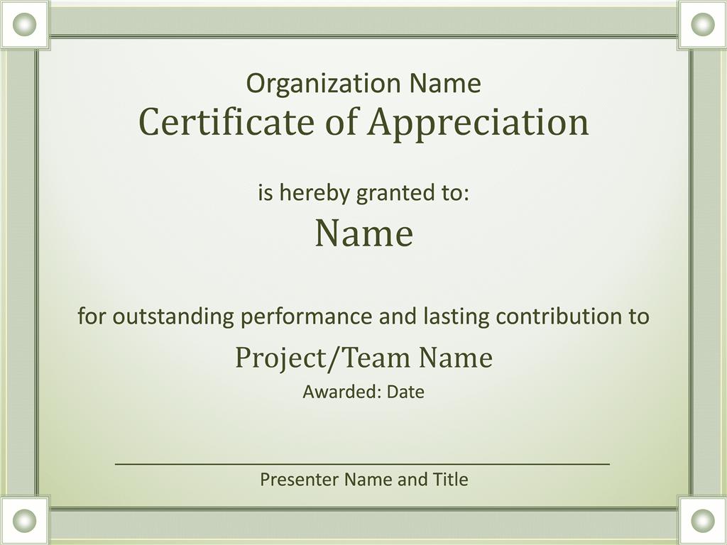 Acknowledge Prominent Public Presentation Certificate Of Grasp