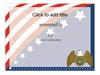Award Certificate (american Flag Design)