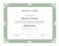 Eminent Schoolhousehousehousehouse Sheepskin Certificate (aureate...