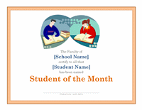 Canonic Certificate For Pupil Of The Calendar Month