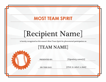 Squad Tone Award Certificate (editable Statute Title)