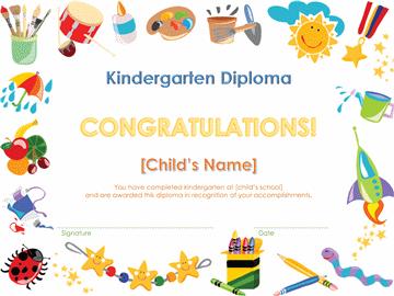 Preschool Sheepskin Certificate