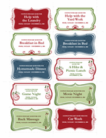 Gift Coupons Template In Vintage Holiday Theme