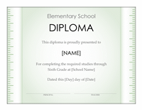 School Diploma Template For Elementary Grade