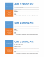 Endowment Certificates (colour City City City Block, 3 Per Page)