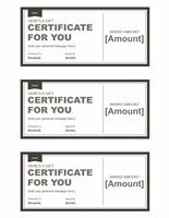 Endowment Certificates (bleak &ampereereereere; Snowy, 3 Per Page)