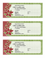 Holiday Gift Certificate Red...