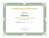 Certificate Of Acknowledgment For Administrative Business