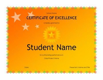 Pupil Excellency Awarding (eminent Schoolhouse)