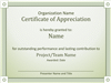 Acknowledge Prominent Public Presentation Certificate Of Grasp