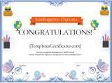 Kindergarten Diploma Certificate Template
