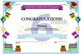 6 Month Certificate Programs Template