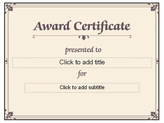 Awarding Certificate (conventional Designing)