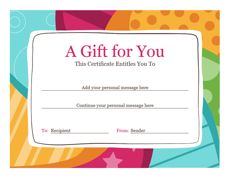 download gift certificate template word free free certificate