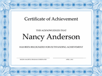 Certificate Of Accomplishment (bluish)