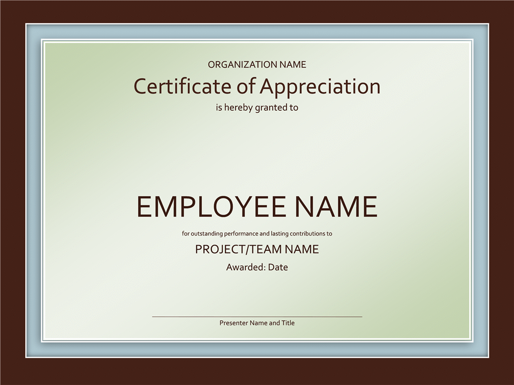 Certificate Of Appreciation Free Certificate Templates In Business