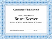 Certificate Of Eruditeness (conventional Bluish Boundary Line)