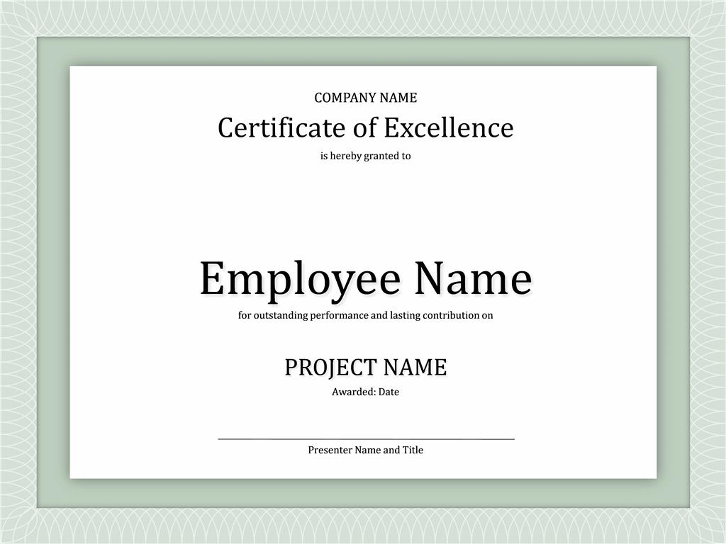 Printable Certificate Samples