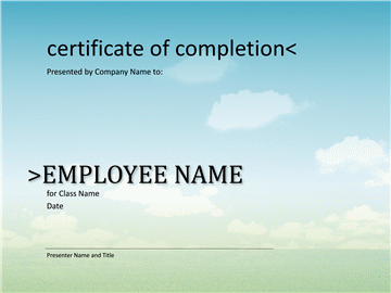 Certificate Of Pass Pass Completion For Course Of Study