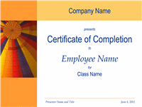 Certificate Of Preparation Pass Completion