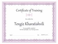 Certificate Of Preparation (violet Concatenation Designing)