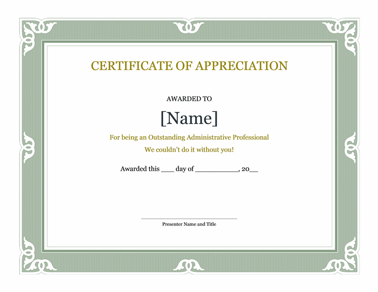 Certificate of recognition for administrative professional free certificate of recognition for administrative professional yadclub Gallery