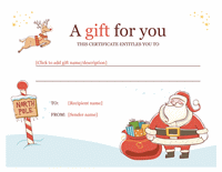 Christmas Gift Certificate Template Word 2010